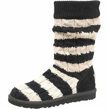 BNIB GENUINE Ugg Classic Tall Stripe Cable Knit Womens Girls Boots,UK 4.5 £145!