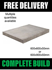 Grey Council Concrete Paving Slabs 600 x 600x50mm or 600 x 900x50mm