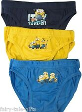 DESPICABLE ME MINNIONS BOYS 3 PACK OF BRIEFS - New