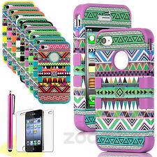 New Tribal Aztec Pattern Skin Hybrid Hard Back Case Cover For Apple iPhone 5 5S