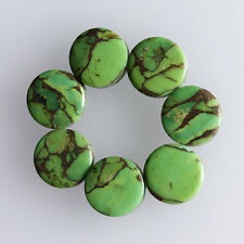 15MM Round Shape, Green Copper Turquoise Calibrated Cabochons AG-228