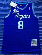 Kobe Bryant #8 Los Angeles Lakers Classic Throwback Jersey (Blue on Blue)