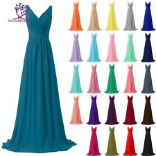 Women Chiffon Sexy Bridesmaids Dress Formal Prom Dresses Party Evening Ball Gown