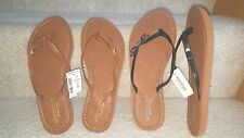AEROPOSTALE PRINCE & FOX WOMENS BROWN BOW FLIP FLOPS SHOES 6 7 NWT