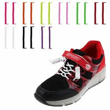Elastic No Tie Curly Shoe Laces Coiler Elastic Twisty Unisex Fits Kid & Adults~