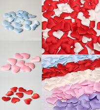 Satin Padded Fabric Scatter Love Heart Table Decoration Wedding Favour Decor DIY
