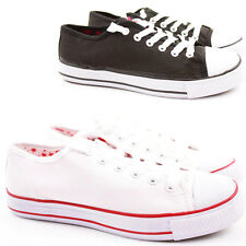 Womens Trainer Flat Lace up Ankle Fashion Plimsolls Style Boots Shoes Size