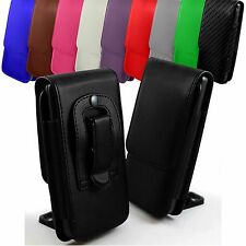 "For Videocon Challenger V40LD (4"") Leather Magnetic Flip Belt Clip Case Pouch"