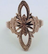 14K Gold Polished Filigree RING Available in Yellow,White & Pink Gold Sizes 5-10