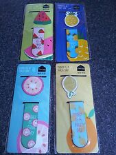 PK OF 2 CUTE KAWAII MAGNETIC FRUIT BOOKMARKS PAGE FINDER MARKERS BOOK MARKS BNIP