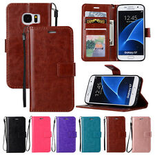 For Samsung Galaxy Leather Wallet Case Magnetic Flip Cover Stand Card Slots