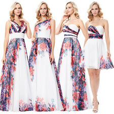 Women Long Strapless Chiffon Evening Formal Party Cocktail Dress Bridesmaid Prom