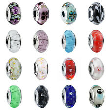 Sterling European Murano Glass 925 Silver Charms Bead for Bracelet Necklace US17