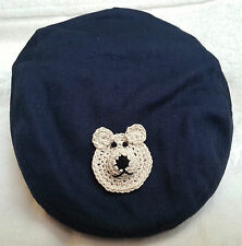 NEW NAVY BLUE NEWSBOY GOLF CAP HAT 6 12 18 24 MONTHS BOYS BABY INFANT TODDLER