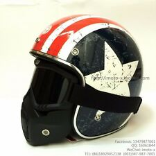 Motorcycle Helmets Harley Retro Cruiser Style TORC Half-Face DOT-certification