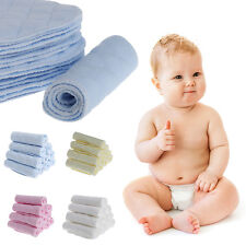 10Pcs Baby Diaper Insert 3 Layer Nappy Liner Breathable Absorbent Cotton Cloth