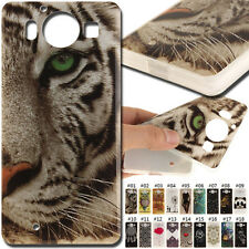 For Microsoft Nokia Lumia 950 TPU Rubber Various Skin Back Soft Shell Cover Case