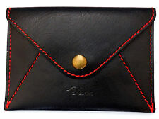 MiNi Coin Purse Wallet Small envelope Faux Leather for cards currency Black Grey