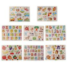 Kids Wooden Peg Jigsaw Puzzles Baby Toddler Preschool Educational Toy Gifts