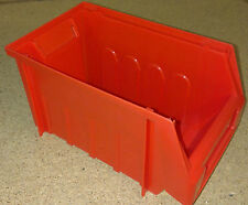 Pack of 12 Red Dexion Maxi Bins 1322 Lin Plastic Storage Bin Container