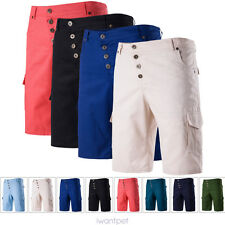 Casual Mens Cotton Summer Army Combat Camo Work Cargo Shorts Pants Trousers