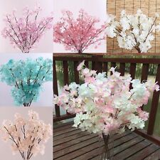 5 Colors Artificial Spring Peach Blossom Cherry Plum Branch Flower Home Decor