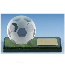 Simple Ball Glass Trophy in 2 Sizes Free Engraving up to 30 Letters