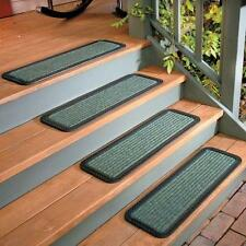 """2pc or 4pc Rubber Backed Heavy Duty Outdoor 30"""" Stair Treads Non Slip 3 Colors"""