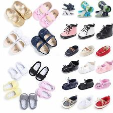 Newborn to 18M Infants Baby Girl Summer Boy Moccasin Sandals Sole Crib Shoes Lot