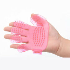 Dogs Bath Cleaning Brush Palm Shaped Adjustable Plastic Brush Massage Tool P