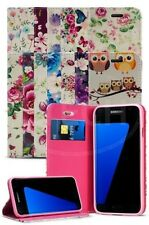 For Samsung Galaxy S7 Edge Duos Dual SIM Vintage Flower Magnetic Wallet Case