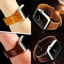 Genuine Leather Buckle Wrist Watch Strap Band Belt for Apple Watch 38/42mm