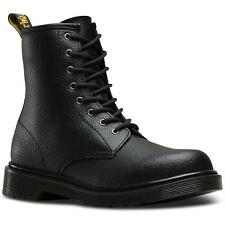 Dr Martens Delaney Youth Black Pebble Leather Ankle Boots