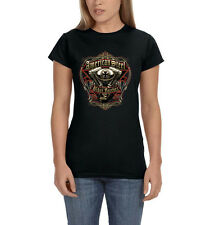 American Steel Biker Forever Motorcycle Chopper Engine Women's T-Shirt Tee