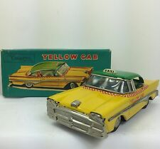 Vintage 1960 Tin LithoTaxi CAB Friction Tin Toy Car SSS JAPAN Cragstan.