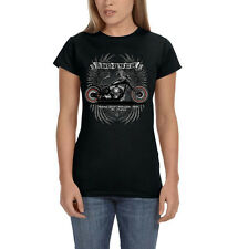 Bobber Garage USA Motorcycle Chopper Chop Shop Biker Women's T-Shirt Tee