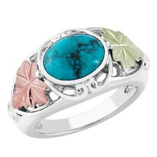 Black Hills Gold on Sterling Silver Turquoise Ring Size 4 - 10