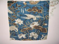 "Lee Jofa, GP & J Baker,""Heron & Lotus Flower"" fabric remnant various colors"