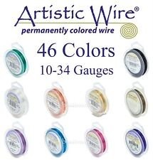 Artistic Wire 46 COLORS (10 - 34 Gauges) Tarnish Resistant & Silver Plated Wires