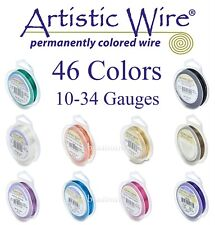 Artistic Wire 46 COLORS (LARGE SPOOLS) Tarnish Resistant & Silver Plated Wires