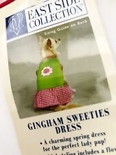 EAST SIDE COLLECTION NWT - Gingham Sweeties Dog Dress - TEACUP SIZE - NEW