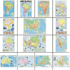 VCP Political Map Laminated Wall Chart Wall Poster Pack Of 5 PCS-VCP-MWC10A-PAR