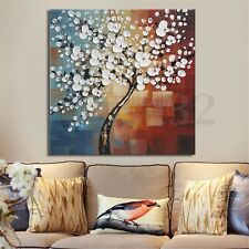 Framed Canvas Print Oil Painting Home Decor Wall Art Abstract Flower Tree