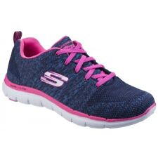 Skechers FLEX APPEAL 2.0 HIGH ENERGY Ladies Womens Trainers Shoes Navy/Hot Pink