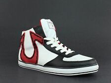 True Religion ACE HI Leather Mens Casual Fashion White Black Red Sneakers