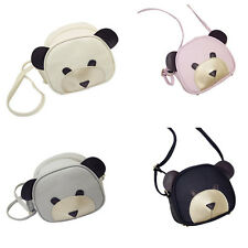 1Pcs Girl's PU Leather Cute bear face Women Handbags Shoulder Bag 2017