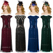 1920s Flapper Dress Gatsby 20s Roaring Charleston Fringe Party Women Fancy Dress