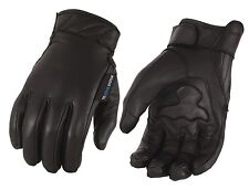Men's Leather Gloves with Gel Palm, Cool Tec Technology - Touch Screen Fingers