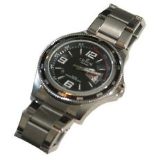 Mens Croton Aquamatic Stainless Steel Sporty Date Watch - Never Worn