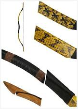 Archery Hunt Handmade Real Snakeskin longbow Chinese Han Bow Recurve Bow 20-80lb